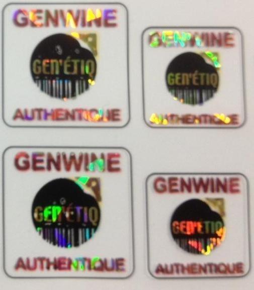 Les étiquettes avec hologramme