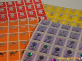 Étiquette sécurisant les documents douaniers