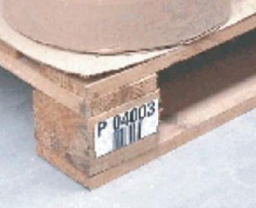 Etiquette d'identification de palette en bois