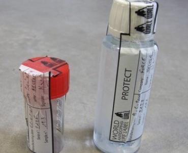 Etiquette adhésive pour flacons, securite, garantie de fermeture ou non ouverture