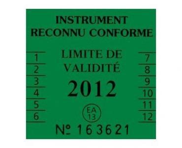 Étiquette de sécurité pour balances et instruments de pesage