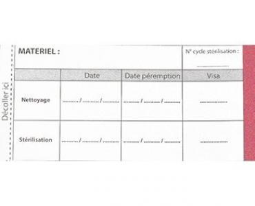 Etiquette avec indicateur de stérilisation
