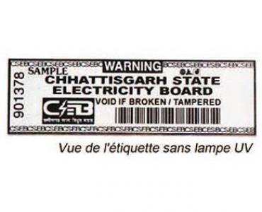Étiquette de sécurité pour compteur électrique