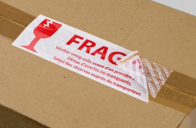 Etiquette Techno-Logic® (VOID ou tamper evident) de garantie pour colis ou cartons