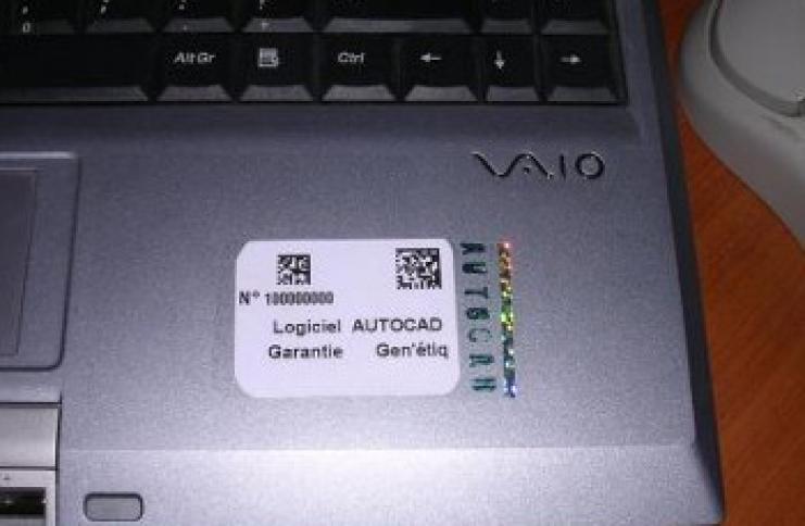 Etiquette pour ordinateur et autres supports