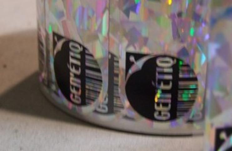 Étiquette hologramme personnalisé