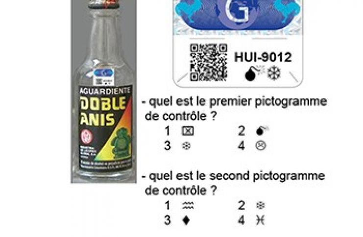 Etiquette  QR Code et pictogrammes