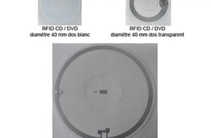 Etiquette RFID pour CD / DVD (bibliothèques)